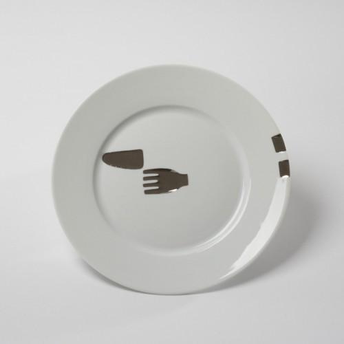 EP.L Pedel.Assiette Fourchette Couteau