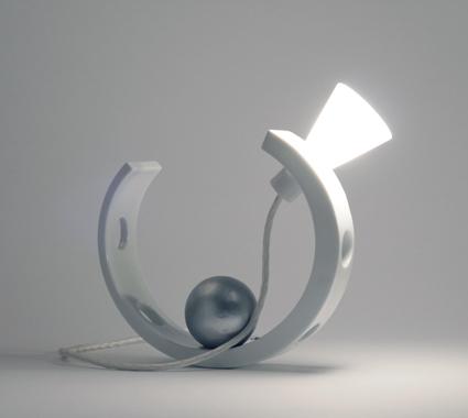 Esprit Porcelaine.Gilles Méraud Lampe HALF MOON B