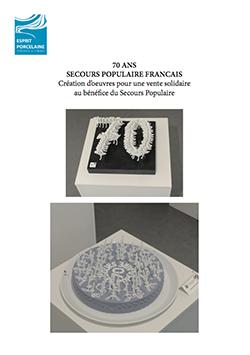 SECOURS POPULAIRE FRANCAIS Création d'oeuvres pour une vente solidaire au bénéfice du Secours Populaire
