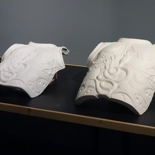 Le Plastron De L'armure En Porcelaine