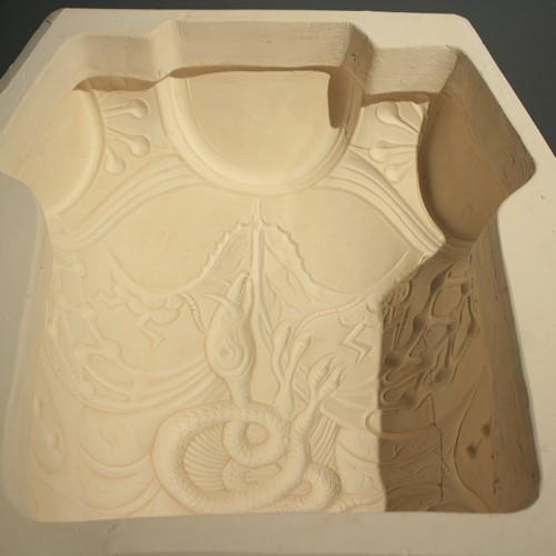 Détail Des Moules De L'armure En Porcelaine