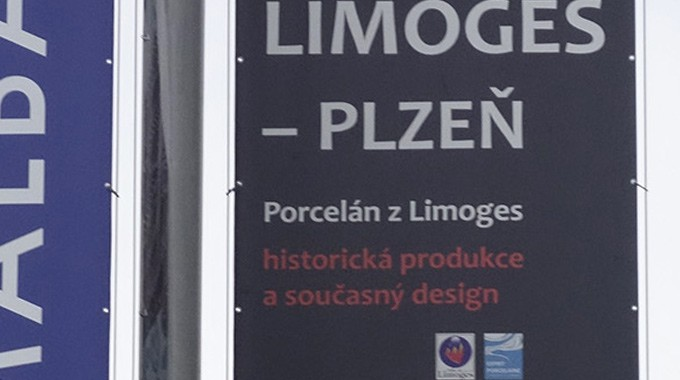 Limoges > Pilsen Travel Art, La Porcelaine De Limoges Est Bien Présente Dans La Ville De Pilsen, Une Des Villes Jumelles De Limoges