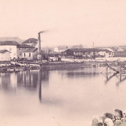 Photo Vue Prise Du Pont Saint-Etienne En Remontant La Vienne, Vers 1870. Photo. Jean-Baptiste Audiguet, Coll. BFM Limoges