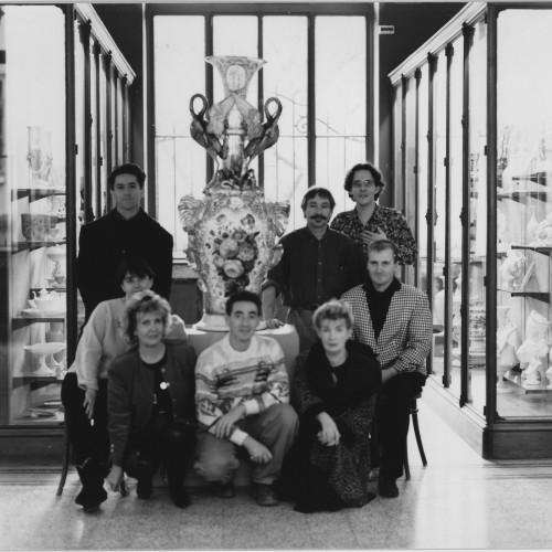 Photo Les Créateurs D'Art Feu Entreprise, Futur Esprit Porcelaine, Au Musée National Adrien Dubouché, En 1984, Photo. Jean-Louis Schmitt.