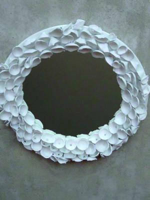 Miroir en Porcelaine de Limoges