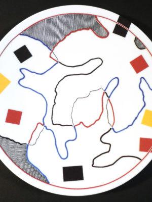 MDGUIBAL Plat Figuier Verso Esprit Porcelaine, porcelaine de Limoges